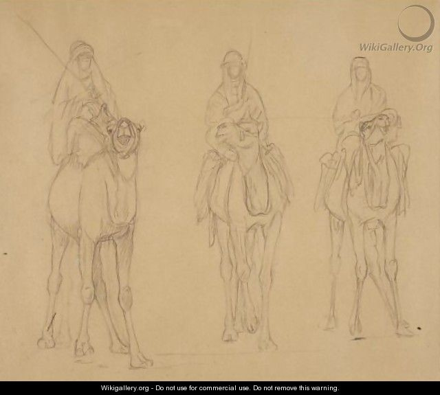 Study Of Bedouins On Camels - Jean-Léon Gérôme