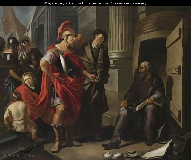 Alexander The Great And Diogenes - Hendrick Heerschop or Herschop
