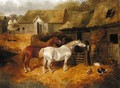 Farmyard With Horses - John Frederick Herring, Jnr.