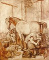 Shoeing - (after) Landseer, Sir Edwin