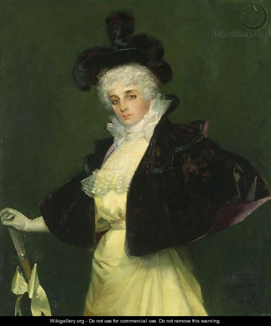 A Portrait Of An Elegant Lady - French School