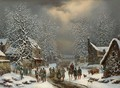 The Infantery Arriving In A Wintry Village - Louis Claude Mallebranche