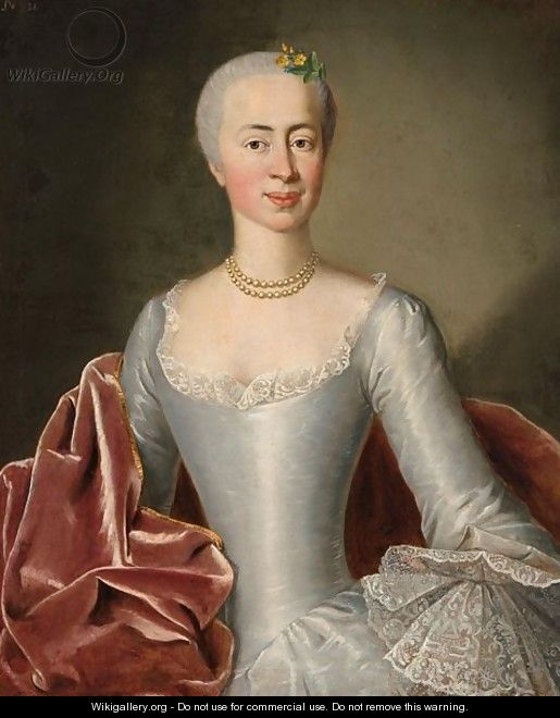 A Half Length Portrait Of A Lady - (after) Pesne, Antoine