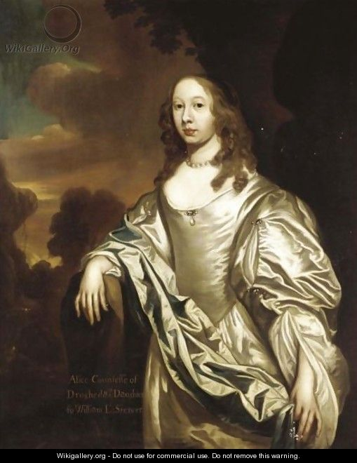 Portrait Of Alice, Countess Of Drogheda (1625-C.1696) - (after) William Wissing Or Wissmig
