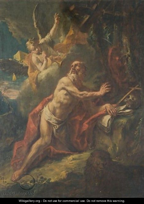 Saint Jerome In The Wilderness - Gaspare Diziani