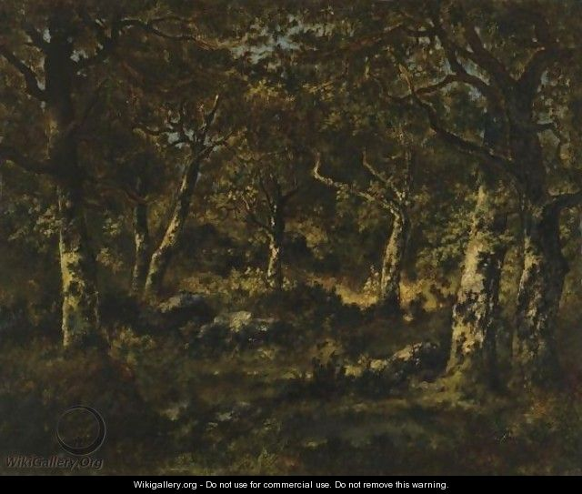 Wooded Scene - Narcisse-Virgile Díaz de la Peña