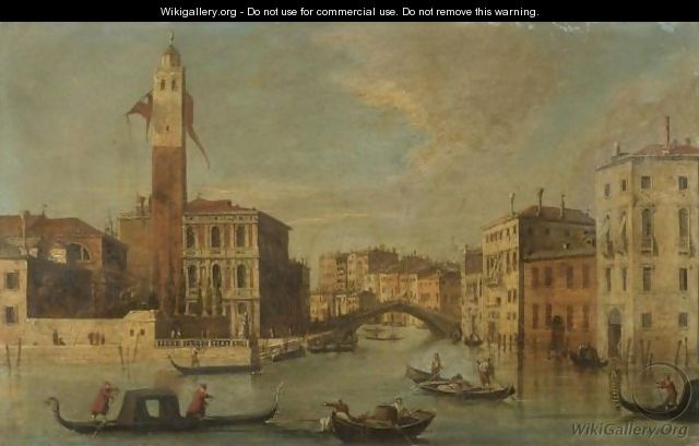Venice, A View Of The Grand Canal With San Geremia And The Entrance To The Cannaregio - (after) (Giovanni Antonio Canal) Canaletto