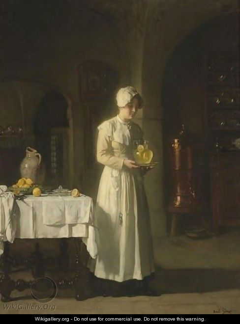 Maid With Lemonade - Claude Joseph Bail