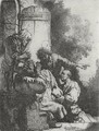 Joseph's Coat Brought To Jacob 2 - Rembrandt Van Rijn