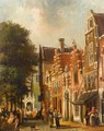 Villagers In The Streets Of A Dutch Town 7 - Pieter Gerard Vertin