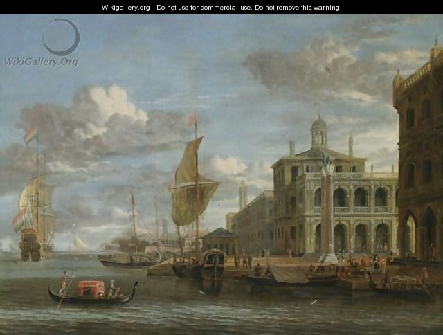 Venice, A Capriccio View From The Bacino With The Piazzetta And Dutch Shipping - Jacobus Storck