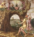 An Allegory With Faith, Hope And Labour Leading To Justice, Charity And Piety - Flemish School