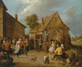 Peasants Dancing, Eating And Drinking Outside An Inn - (after) David The Younger Teniers