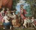 A Bacchanal With Ceres, Bacchus And Venus - Jan, the Younger Brueghel