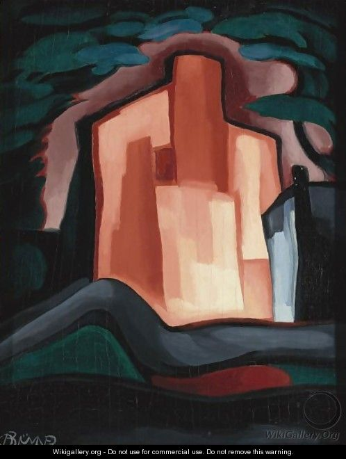 A House In The Night - Oscar Bluemner
