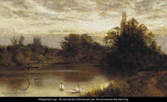 River With Swans - Alfred Glendening