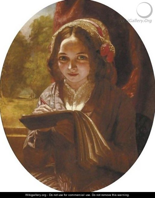 Portrait Of A Girl With A Notebook - Charles Baxter
