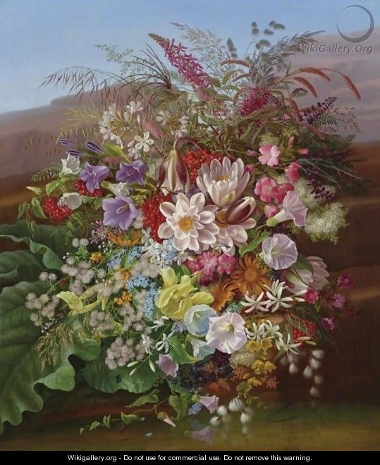 Still Life With Flowers 3 - Adelheid Dietrich