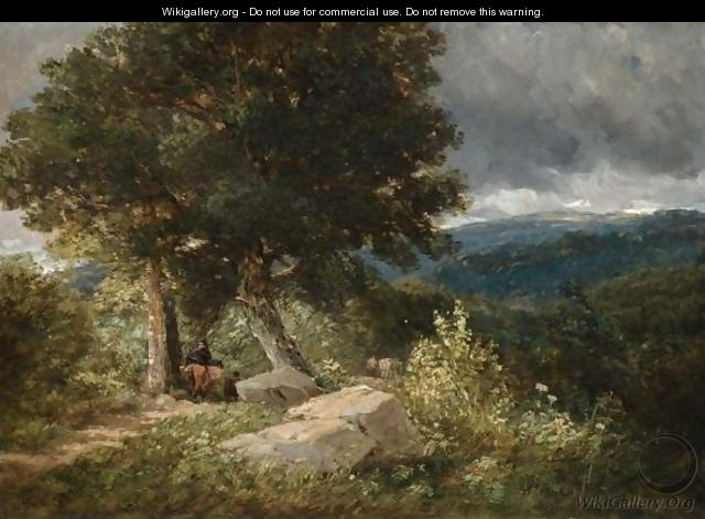 Travellers On The Road To Bettwys-Y-Coed - David Cox