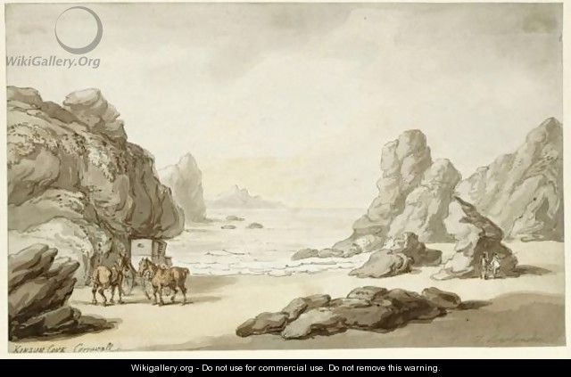 Kinsun Cove, Cornwall - Thomas Rowlandson