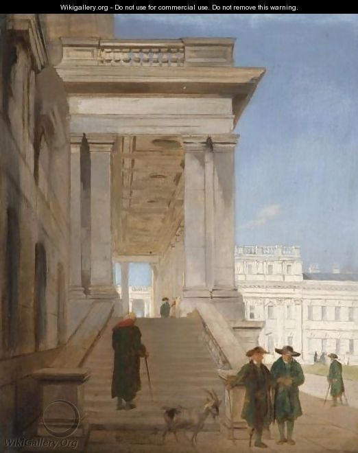 View Of The Courtyard At Greenwich Hospital - John Scarlett Davis