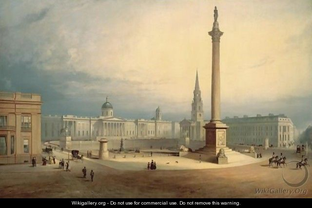 A View Of Trafalgar Square - Charles Deane