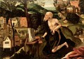 The Penitent Saint Jerome In A Landscape - (after) Lucas Gassel
