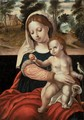 The Virgin And Child With A Parrot - Unknown Painter