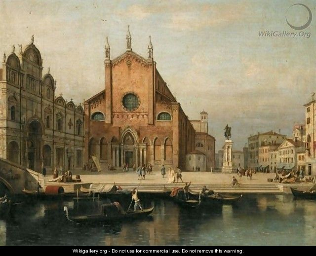 Venice, A View Of The Church Of Ss. Giovanni E Paolo And The Ospedale Di San Marco - (after) (Giovanni Antonio Canal) Canaletto