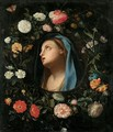 Madonna Encircled By A Garland Of Flowers - Jacob Marrel