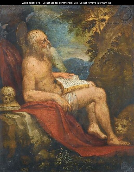 Saint Jerome In The Wilderness - (after) Lorenzo Lotto