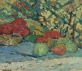 Still Life With Fruit And Basket - Nicolas Tarkhoff