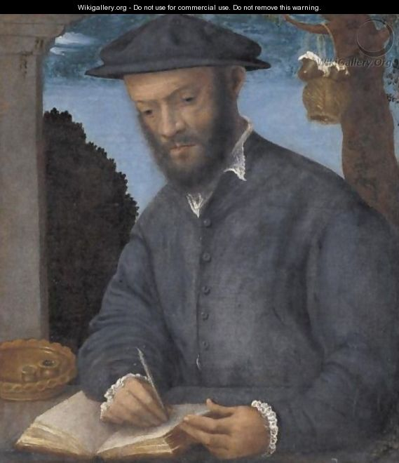 Portrait Of A Scribe - (after) Vittore Di Matteo Belliniano
