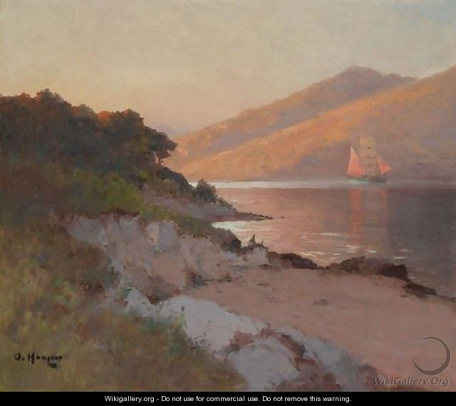 Sailing Along The Coast - Aleksei Vasilievich Hanzen