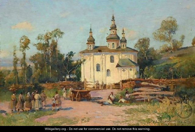 The Church Of Saint Elijah, Near Tchernigov - Sergei Ivanovich Vasilkovsky