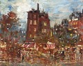 A Parisian Boulevard By Night - Konstantin Alexeievitch Korovin