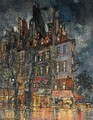 Parisian Street Corner At Night - Konstantin Alexeievitch Korovin
