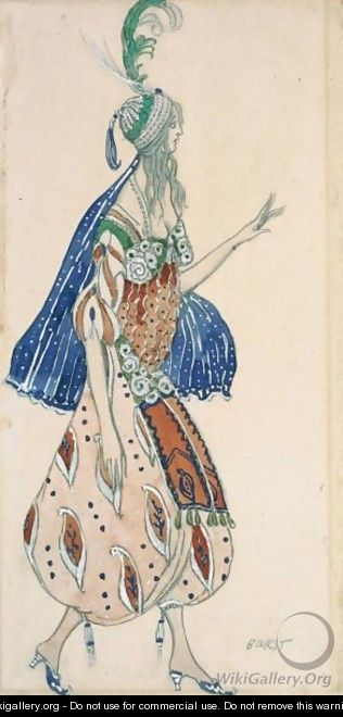 Costume Design From A Production Of Scheherezade - Lev Samoilovich Bakst