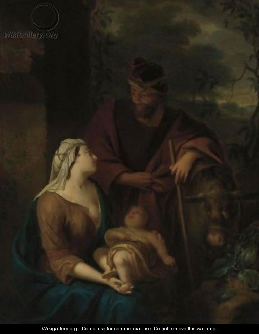 The Rest On The Flight Into Egypt - Arnold Houbraken