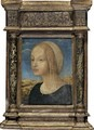 Portrait Of A Lady, Bust Length, In Profile - Florentine School