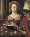 Mary Magdalene Reading, Seated In An Interior, Before An Open Window - (after) Pieter Coecke Van Aelst