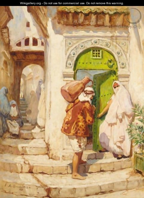 The Water Carrier 2 - Frederick Arthur Bridgman