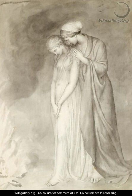 Study Of Two Woman Grieving - John Flaxman