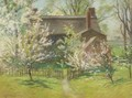 A Cottage In Spring - John Appleton Brown