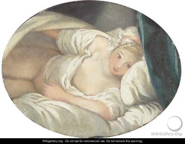 Woman Lying - Jean-Honore Fragonard