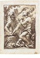 A Shepherd Playing A Pipe, Pan Beside Him And Putti Crowning Him With A Laurel Wreath - Domenico Piola