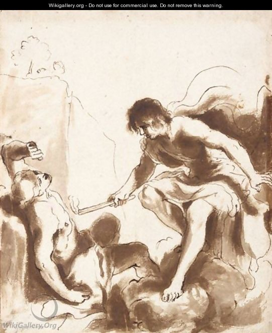 Prometheus Animating With Fire The Clay Figure Of A Recumbent Man - Giovanni Francesco Guercino (BARBIERI)