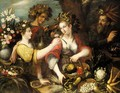 An Allegory Of The Four Seasons - (after) Jean Baptiste De Saive