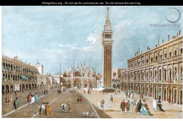 View Of Piazza San Marco - (after) Giacomo Guardi