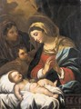 The Madonna And Child With The Infant Saint John The Baptist And Saint Elizabeth - (after) Luca Giordano